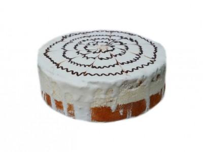 Торт Птичье  молоко белое